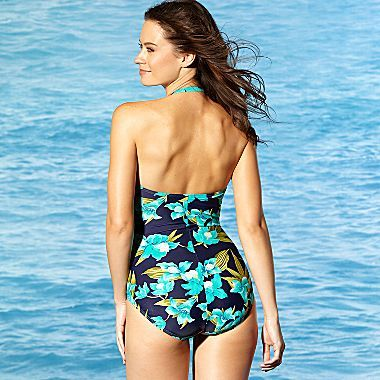 JCPenney St. John's Bay® Slimming One-Piece Suit, Bandeau