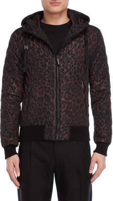 Dolce & Gabbana Animal Print Hooded Jacket