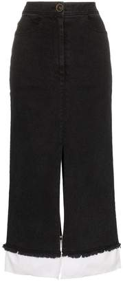 Rejina Pyo high-waisted denim midi skirt