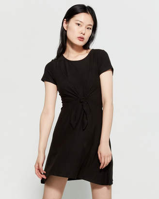 PINK ROSE Black Short Sleeve Mini Tee Dress