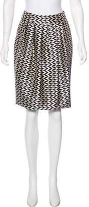 Pauw Silk Jacquard Skirt