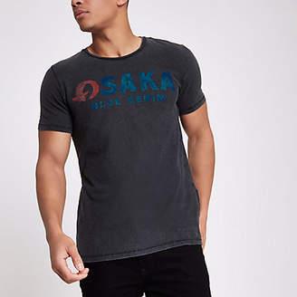 River Island Jack and Jones black 'Osaka' T-shirt