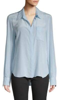 Diane von Furstenberg Carter Silk Button-Down Shirt