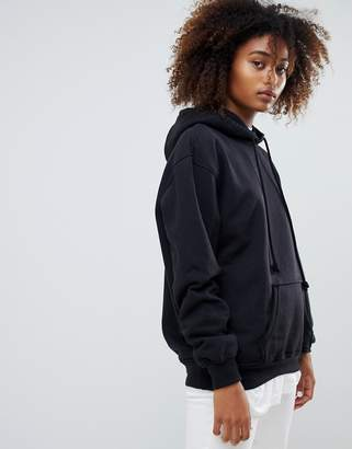 Pull&Bear Oversized Hoodie in black