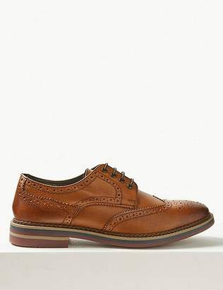 Marks and Spencer Leather Trisole Brogue Shoes