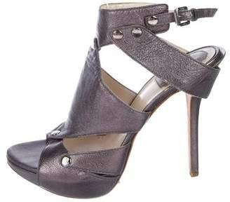 Christian Dior Metallic Leather Sandals