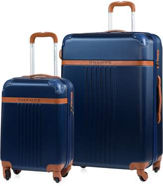 Champs Two-Piece Vintage Hard Shell Luggage Set