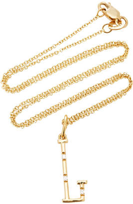 Devon Woodhill Yellow Gold Character Letter Necklace