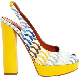 Missoni Yellow Cloth Heels