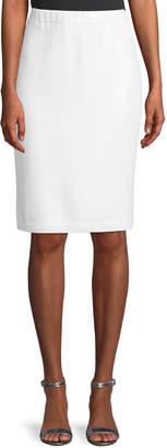 St. John Sequined Santana Knit Pull-On Skirt