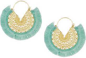 Panacea Filigree Fringe Hoop Earrings