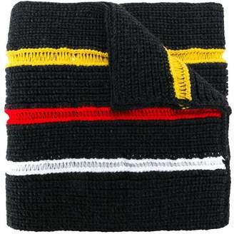 Maison Margiela loose knit trim scarf