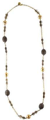 Tory Burch Crystal Station Necklace