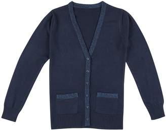 Chaps Girls 4-16 School Uniform Lurex Boyfriend Sweater