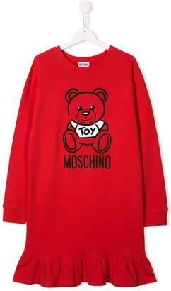Moschino Kids printed logo dress