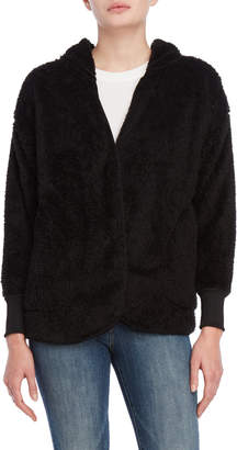 Almost Famous Cozy Plush Open Front Hoodie