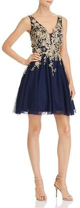 Avery G Embellished Party Dress