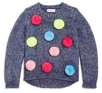 Design History Girls' Pom-Pom Sweater - Little Kid