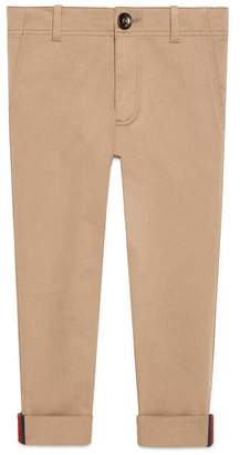 Gucci Children's gabardine trousers with Web