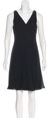 Armani Collezioni Sleeveless Silk Knee-Length Dress w/ Tags