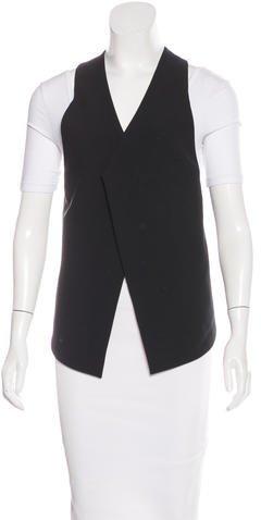 Helmut LangHelmut Lang Woven Asymmetrical Vest w/ Tags