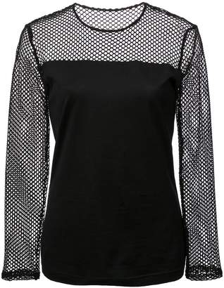 Akris Punto mesh panel blouse