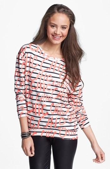 Ten Sixty Sherman 'Chic' Stripe Sweatshirt (Juniors)