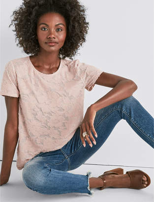 Lucky Brand CLIPPED JACQUARD CREW NECK TEE