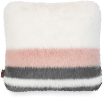 UGG Royale Surf Stripe Faux Fur Accent Pillow