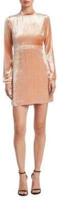 A.L.C. Gemma Velvet Mockneck Mini Dress
