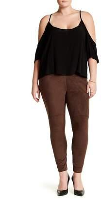 Lysse Faux Suede High Waist Leggings (Plus Size)