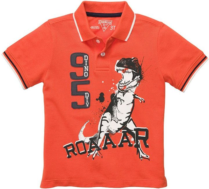 Osh Kosh dinosaur polo - toddler