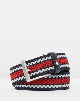 Tommy Hilfiger 3.5cm Adan Stripe Belt