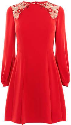 Karen Millen Lace Crepe Dress