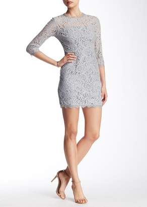 Dress Forum Lace 3/4 Sleeve Mini Dress