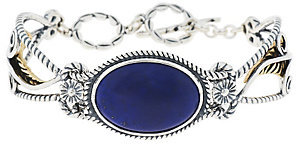 American West As Is American West Lapis Sterling/ Brass Toggle Bracelet