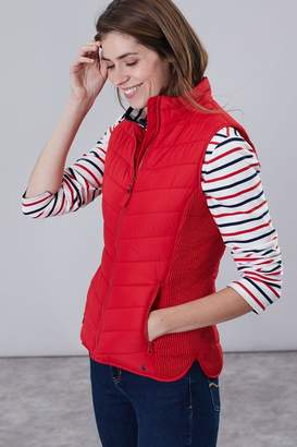 Joules Womens Fallow Padded Funnel Neck Gilet - Red