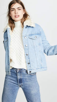 Frame Curly Faux Shearling Jacket