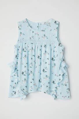 H&M Crinkled Blouse - Blue