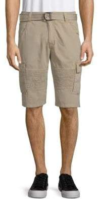 X-RAY Jeans Belted Cotton Cargo Shorts