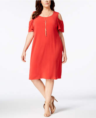 JM Collection Plus & Petite Plus Size Cold-Shoulder Dress