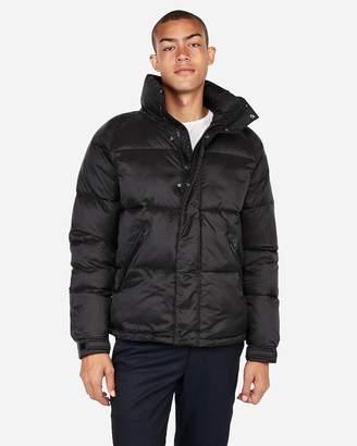 Express Black Mock Neck Puffer Coat