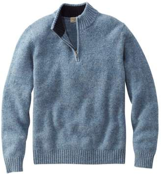 L.L. Bean L.L.Bean Men's Shetland Wool Sweater, Quarter-Zip