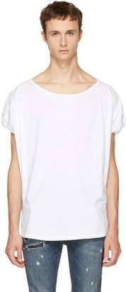 Faith Connexion White Wide Neck T-Shirt