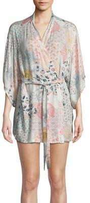 Josie Tropical Print Wrap Robe