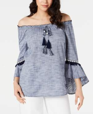 Style&Co. Style & Co Off-The-Shoulder Neck Top, Created for Macy's