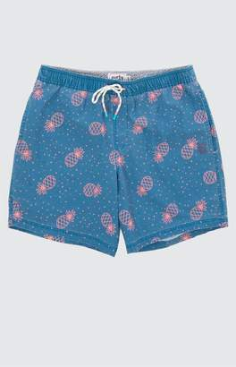 "Party Pants Pin Line Apple 16"" Swim Trunks"