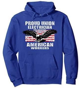 American Eagle Electrician Union Worker Pride Hoodie