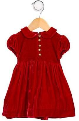 Ralph Lauren Infant Girls' Peter Pan Collar Short Sleeve Dress