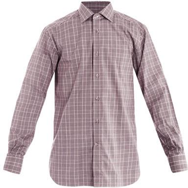 Zegna Rossini-fit check shirt